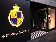 The Duffer store in London