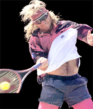 Andre Agassi - 1991 style breakthrough