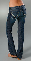 Straight Leg Jeans - Athletic