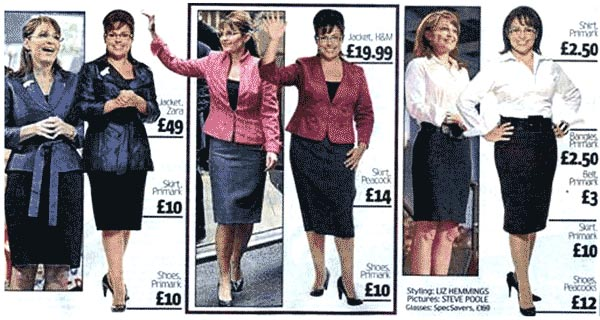 Sarah Palin - UK High Street Style